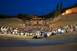 TH��TRE DE POMPEI AU CLAIR DE LUNE